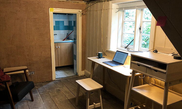 Nick's Studio (mid-renovation)